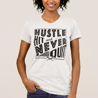 Softball Baseball Hustle Hit with Back Print T-Shirt