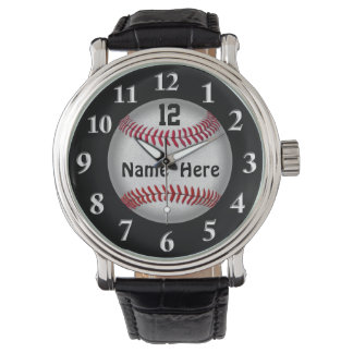 Softball Baseball Watches, YOUR NAME and NUMBER Watch
