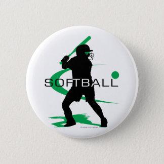 Softball - Batter 6 Cm Round Badge