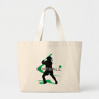 Softball - Batter Large Tote Bag