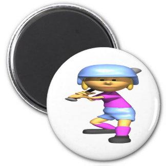 Softball Batter Magnet