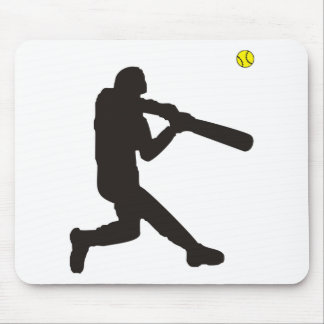 Softball Batter Mouse Pad