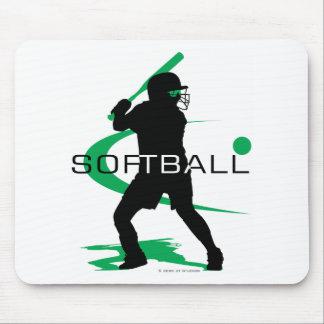 Softball - Batter Mouse Mats