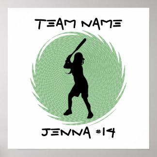 Softball Batter Poster