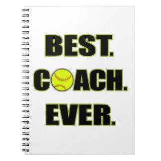 Softball Best Coach Ever Spiral Note Book