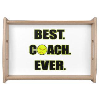 Softball Best Coach Ever Service Tray