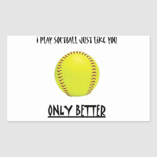 softball better than you sticker