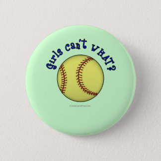 Softball-Blue 6 Cm Round Badge