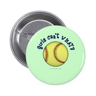 Softball-Blue 6 Cm Round Badge