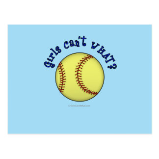 Softball-Blue Postcard