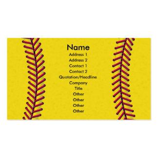 Softball Business Cards