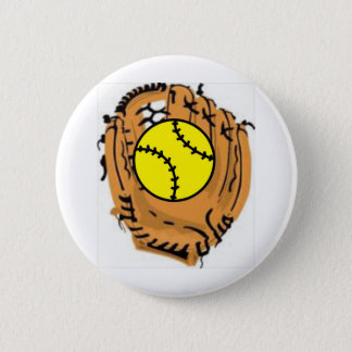 Softball Catcher 6 Cm Round Badge
