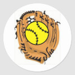 Softball Catcher Stickers