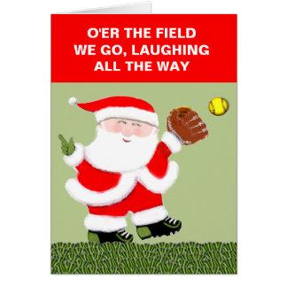 Softball Christmas Card