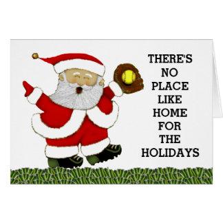 softball Christmas cards