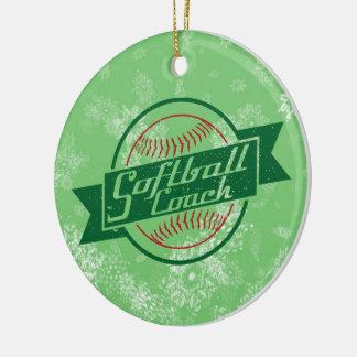 Softball Christmas Ornament, Softball Coach Christmas Ornament