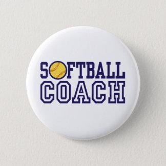 Softball Coach 6 Cm Round Badge