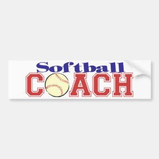 Softball Coach Bumper Sticker
