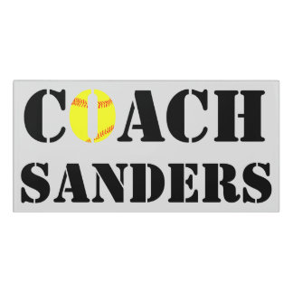Softball Coach Custom Office Door Sign