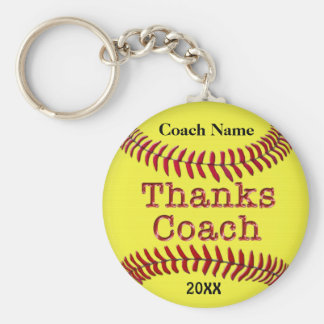Softball Coach Gifts Ideas with NAME and YEAR Key Ring