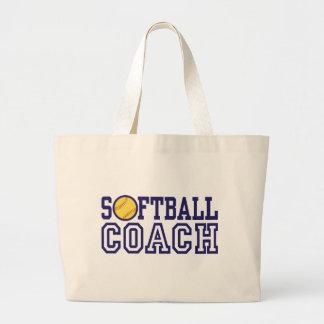 Softball Coach Large Tote Bag