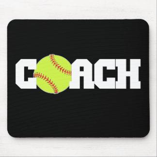 Softball Coach Mouse Pads
