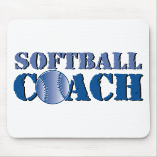 Softball Coach Mouse Pads