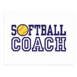 Softball Coach Post Card