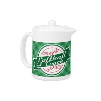 Softball Coach Tea Pot