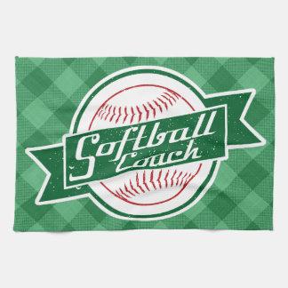 Softball Coach Tea Towel