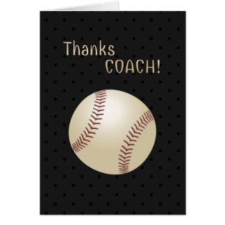 Softball Coach Thank You Card