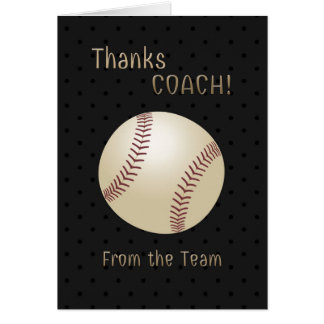 Softball Coach Thank You From the Team Card