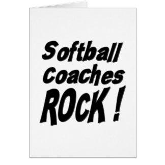 Softball Coaches Rock! Greeting Card