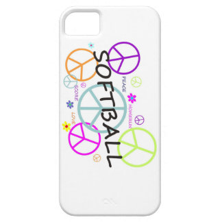 Softball Colored Peace Signs iPhone 5 Case