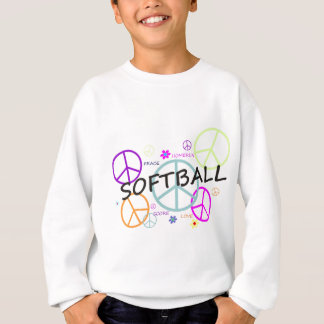 Softball Colored Peace Signs Sweatshirt