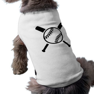 Softball crossed bats sleeveless dog shirt