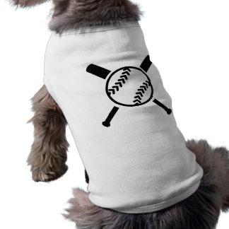 Softball crossed bats sleeveless dog shirt