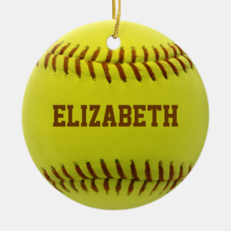 Softball Custom Ball Ornament