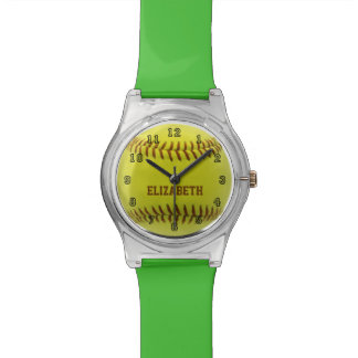 Softball Custom Ball Watch