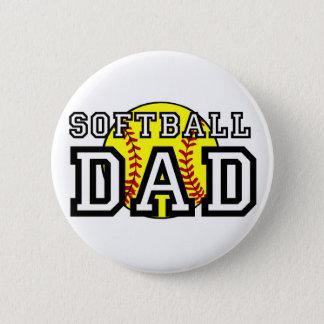 Softball Dad 6 Cm Round Badge