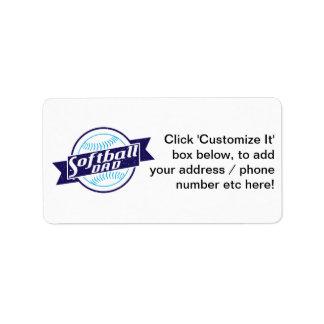 Softball Dad Address Label