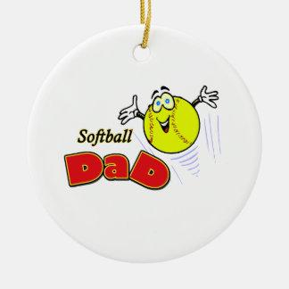 Softball Dad Christmas Ornament