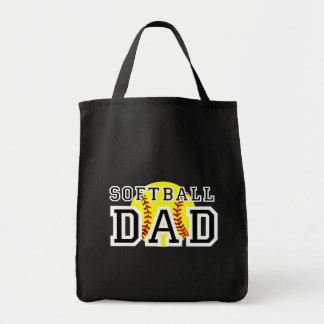 Softball Dad Grocery Tote Bag