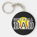 Softball Dad Keychains