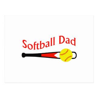 SOFTBALL DAD POST CARD