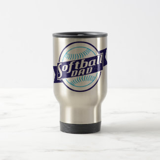 Softball Dad Travel Mug
