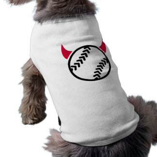 Softball devil sleeveless dog shirt