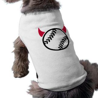 Softball devil sleeveless dog shirt