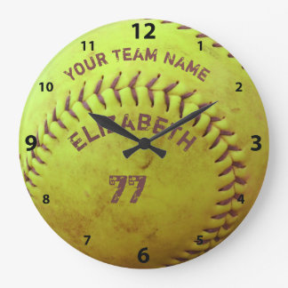 Softball Dirty Name Team Number Ball Clock