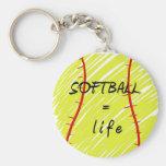 softball_equals_life keychain